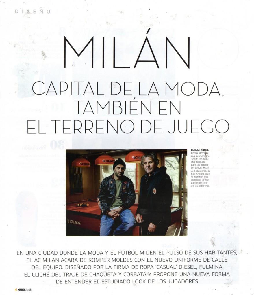 MARCA ESTILO-SPAIN-01.03.2017-DIESEL MILAN SOCCER TEAM 1